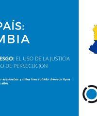 Fiche Pays / Colombie: La justice comme outil de persécution